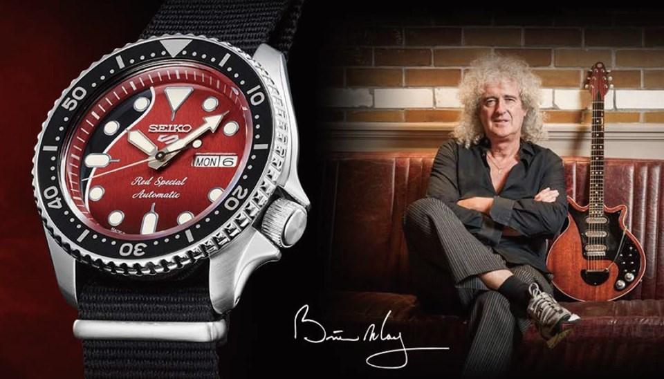 Brian May'in efsane gitarı saat kadranında