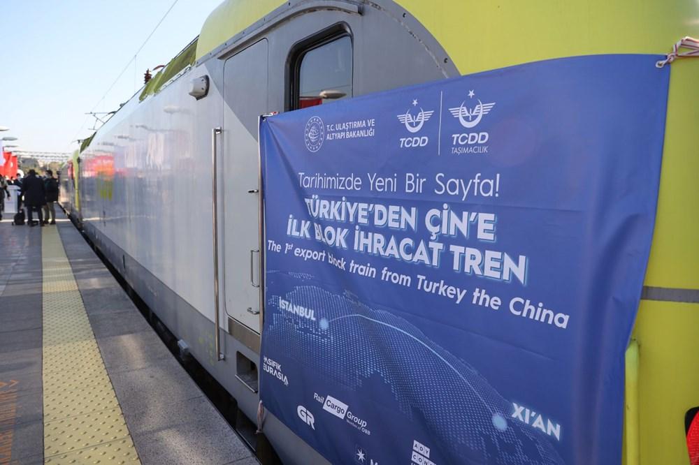 Türkiye'den Çin'e gidecek ilk ihracat treni İstanbul'dan uğurlandı - 4