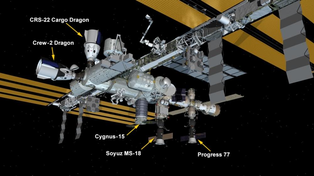 NASA'nın kargo gemisi istasyona kenetlendi - 10