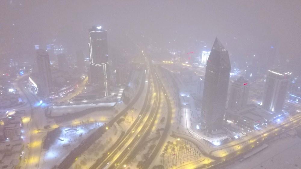 İstanbul'da kar yağışı yeniden etkisini artırdı - 1