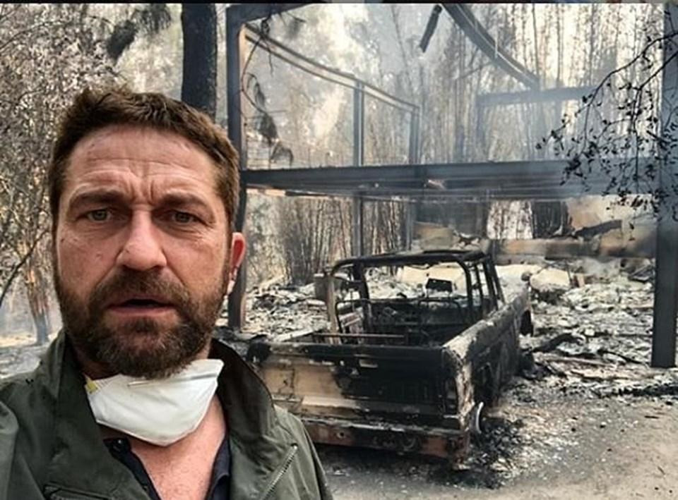 Butler, yangında küle dönen evinin ve aracının fotoğrafını sosyal medyada paylaştı.