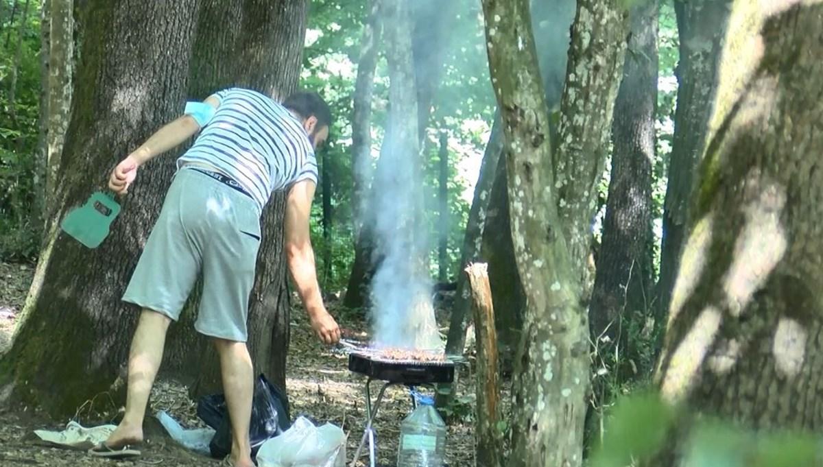 Belgrad Ormanı'nda yasağa rağmen mangal yapılmaya devam ediliyor