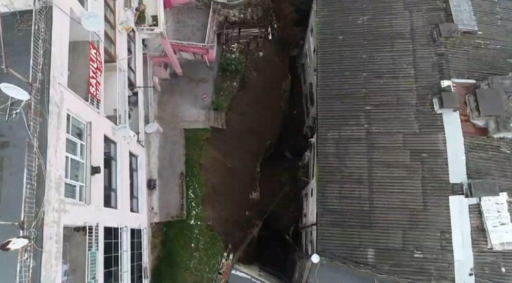Bursa'da istinat duvarı çöktü: 3 apartman tahliye edildi - 4