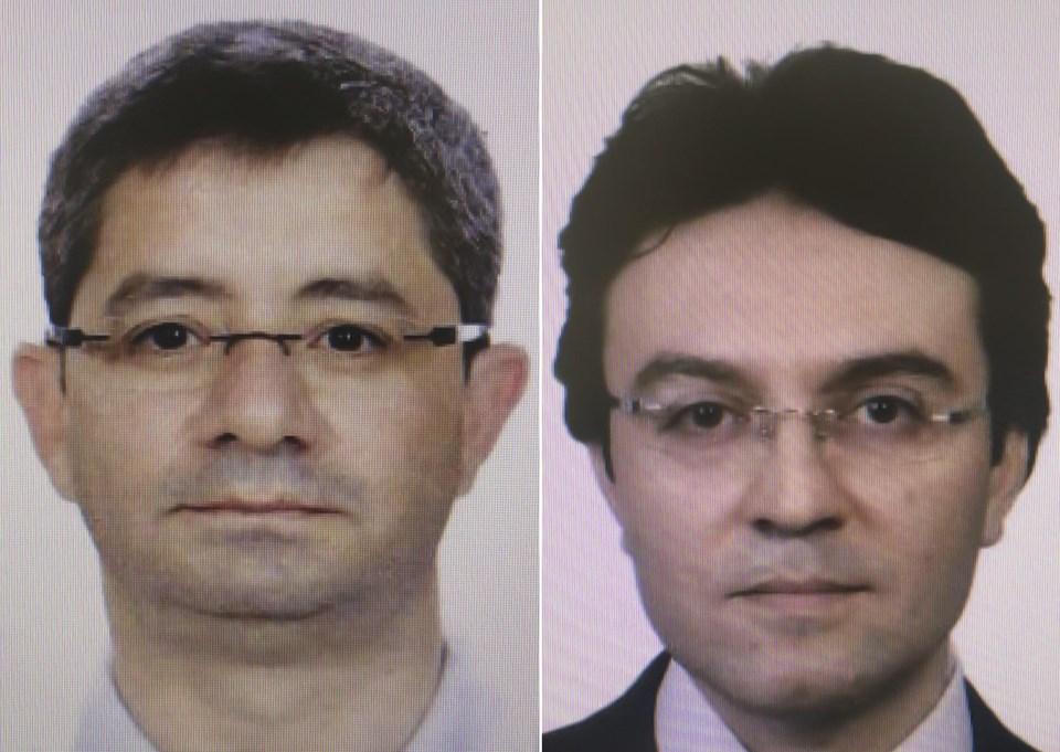 Kemal Batmaz (Solda) ve Harun Biniş (Sağda) darbe gecesi üssün koridolarlarında görüntülenmişti.