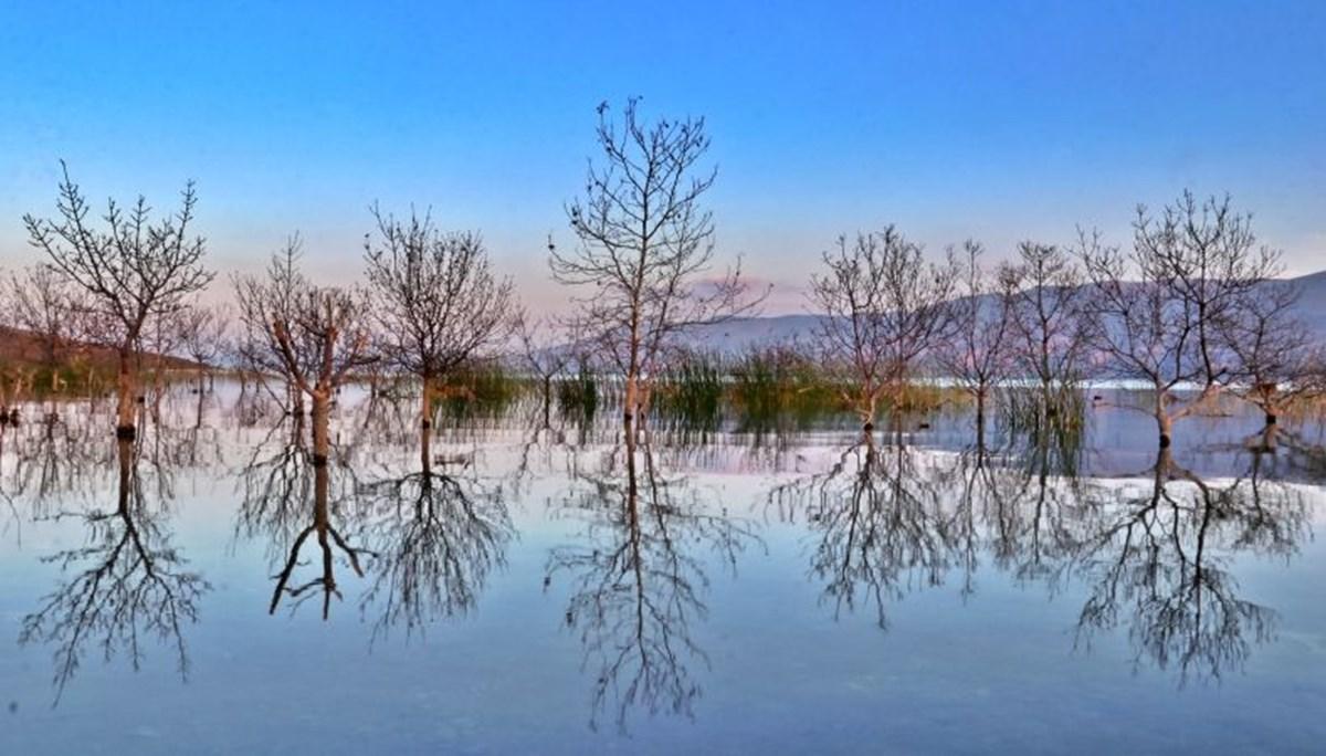'Doğunun gizli denizi' Hazar Gölü sonbaharın renkleriyle büyülüyor
