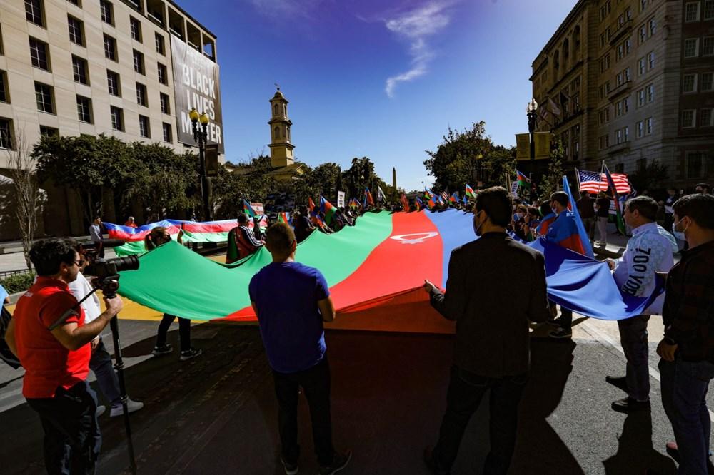 Beyaz Saray önünde Azerbaycan'a destek mitingi düzenlendi - 17