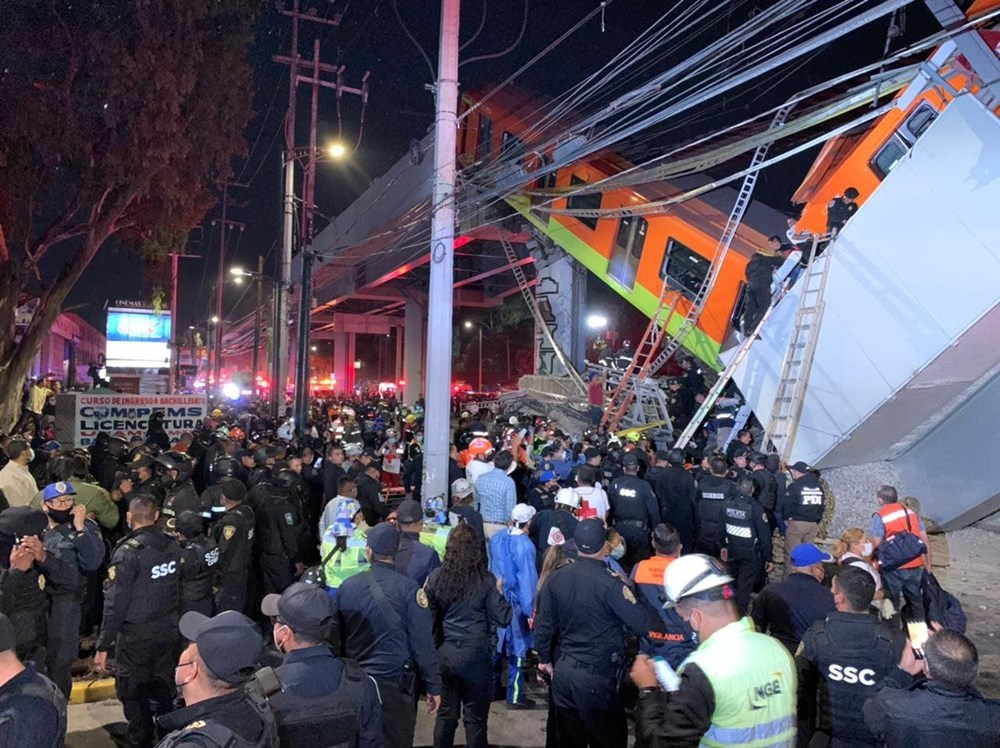 Overpass carrying train tracks collapsed in Mexico: 23 killed, 70 injured - 5