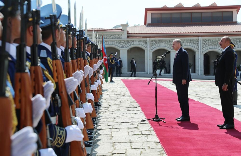 Cumhurbaşkanı Erdoğan ve Aliyev Şuşa Beyannamesi'ni imzaladı - 6