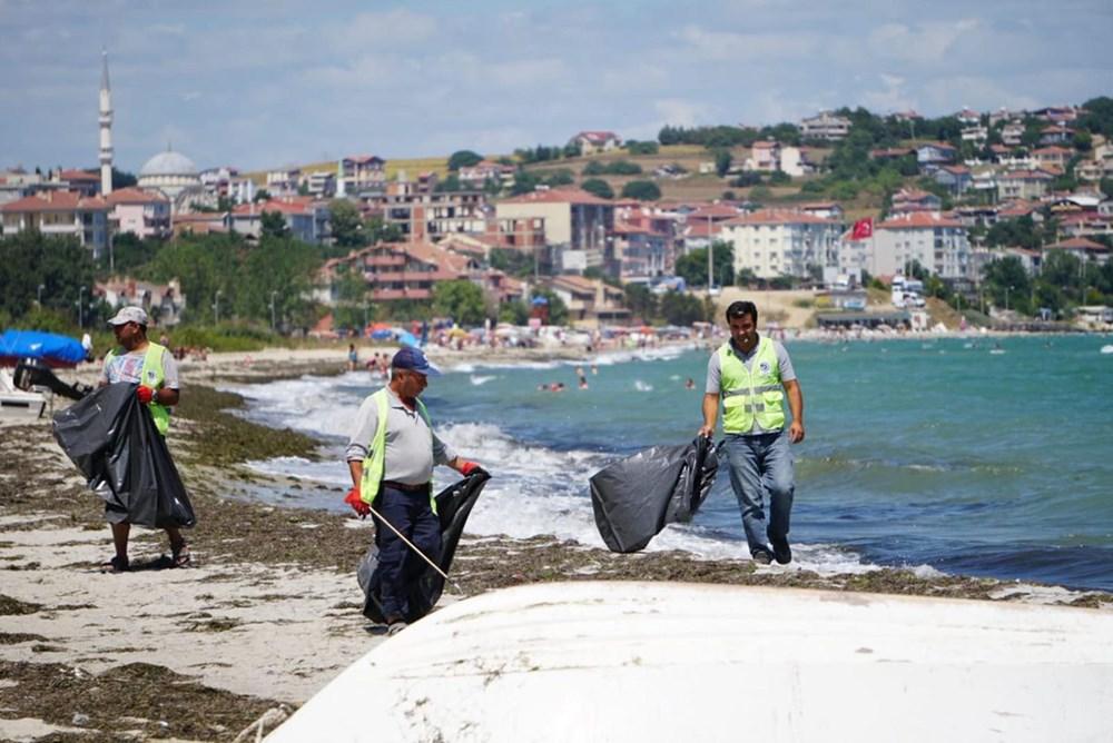 Tekirdağ'ın tatil beldesinde 500 ton çöp toplandı - 1