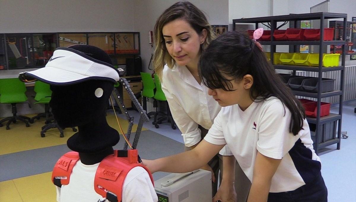 9 yaşındaki Ela 'ALS Yaşam Destek' projesi ile dereceye girdi