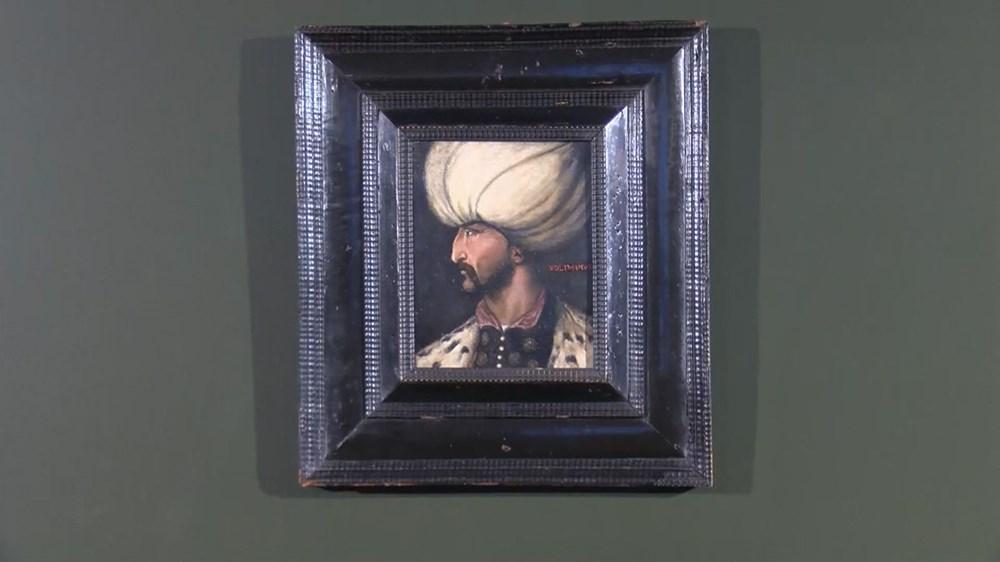 Kanuni Sultan Süleyman portresi Fatih Sultan Mehmet'in portresinin yanında - 3