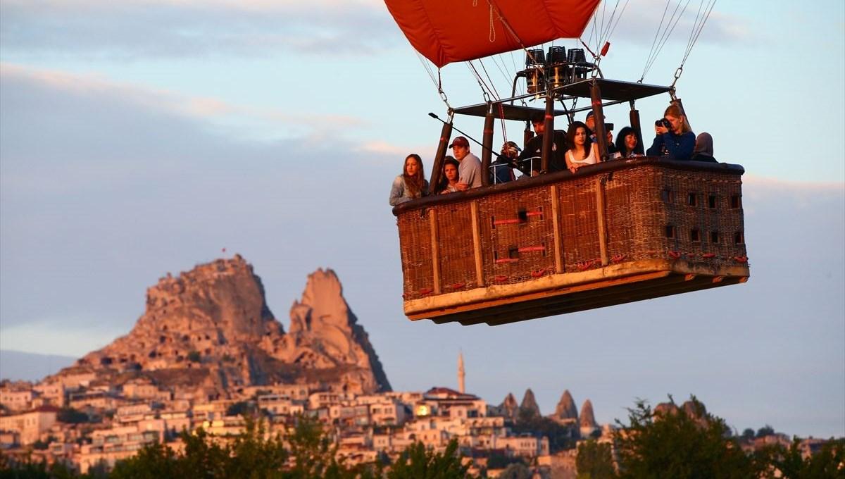Kapadokya'da 7 ayda balon turuna 138 bin 225 turist katıldı