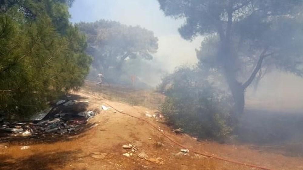 Antalya'da korkutan yangın: Kum taşıdılar - 3