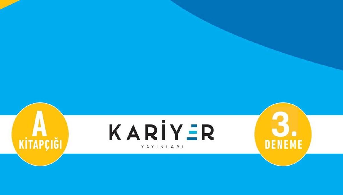 Kariyer Yayınları TYT 3. deneme sınavı