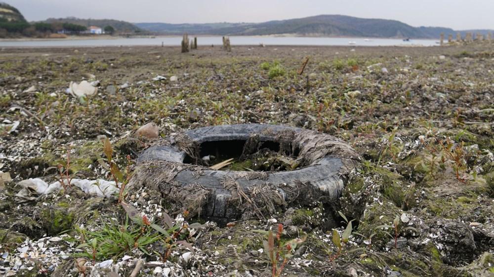 Terkos Gölü 100 metre çekildi, kirlilik ortaya çıktı - 2