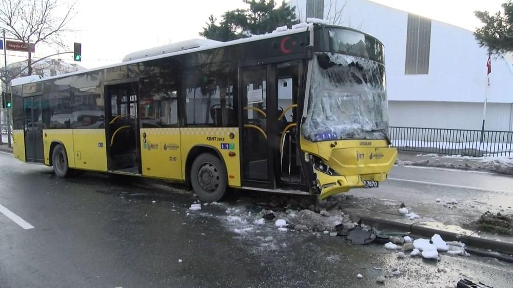 Sancaktepe'de İETT otobüsüyle minibüs çarpıştı: 7 yaralı - 4