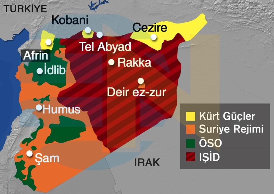 Suriye'de ABD öncülüğündeki koalisyonun hava desteğiyle IŞİD'e karşı savaşan Kürt güçler, Tel Abyad ile Rakka arasındaki bağlantı yolunu kesti. Kürt güçlerin eline geçen yol IŞİD için stratejik önemde.