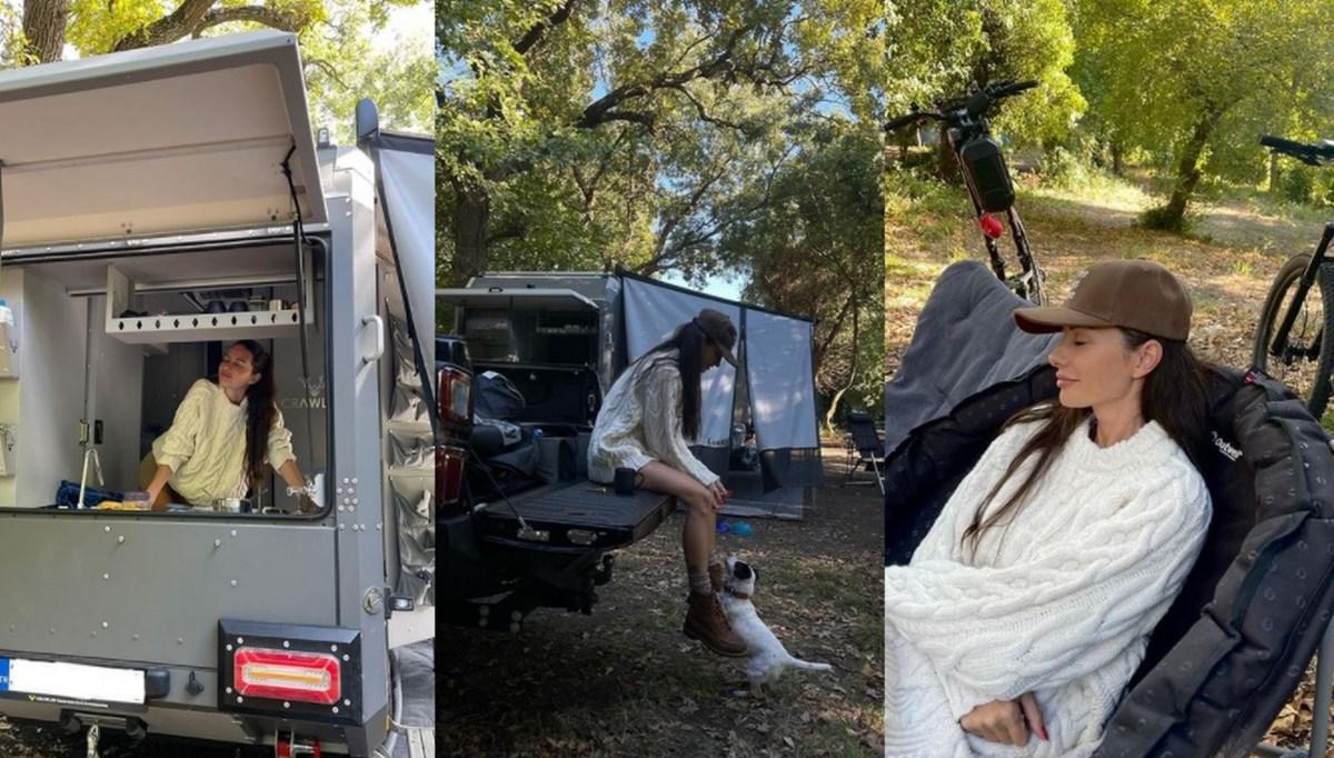 Yasemin Özilhan'ın karavanla tatil günlüğü