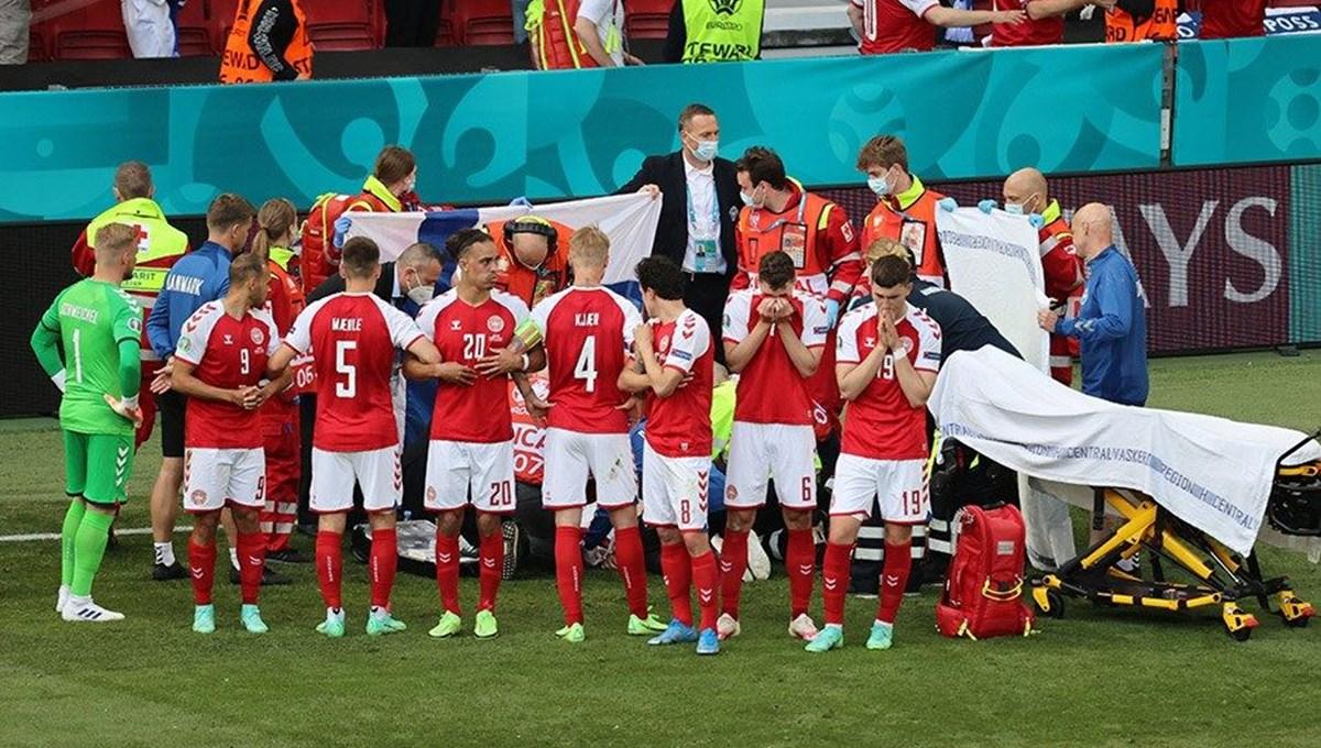 EURO 2020'de üzücü olay: Danimarka-Finlandiya karşılaşmasında Christian Eriksen fenalaştı