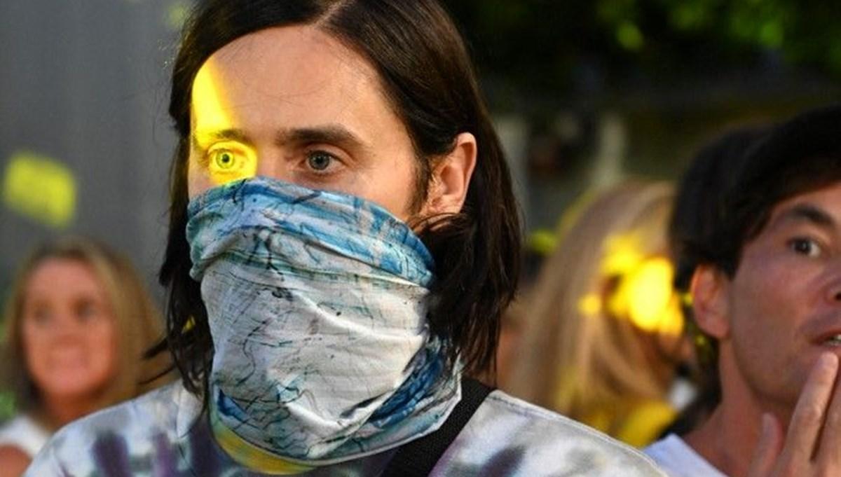 Jared Leto aşı karşıtı protestoda göz yaşartıcı gaza maruz kaldı