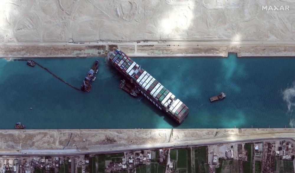 Süveyş Kanalı 6. günde kısmen açıldı: Ever Given gemisi yüzdürüldü - 8