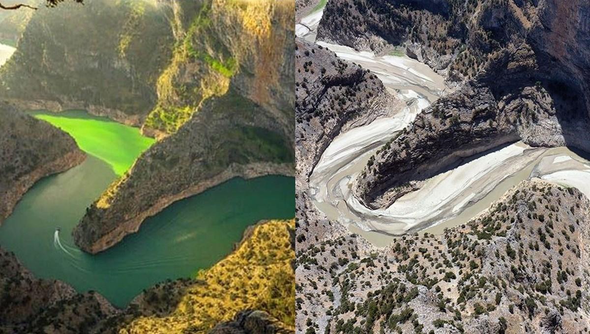 Arapapıştı Kanyonu'ndaki sular çekildi