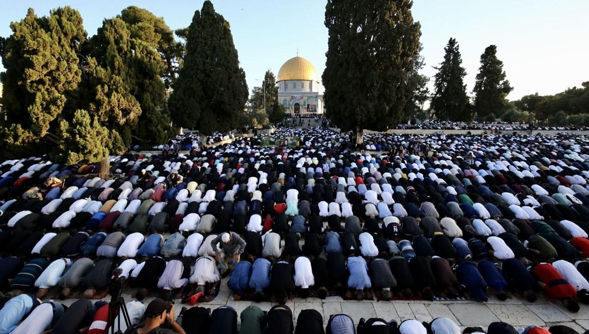 Eid prayer in Masjid Aqsa
