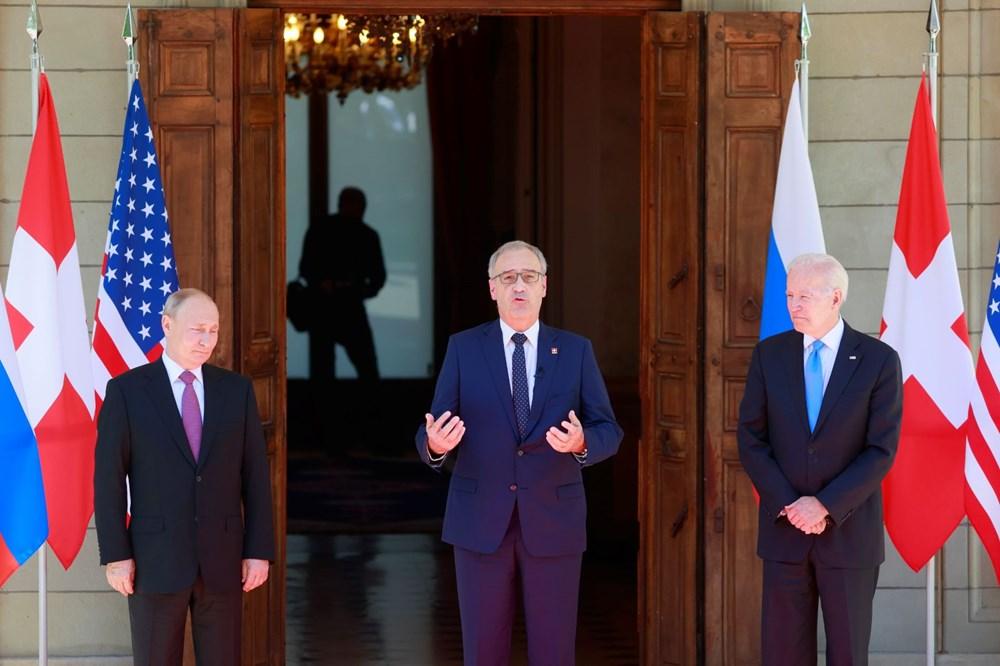 ABD Başkanı Biden ve Rus Devlet Başkanı Putin'in görüşmesi başladı: Zirveden kareler - 3