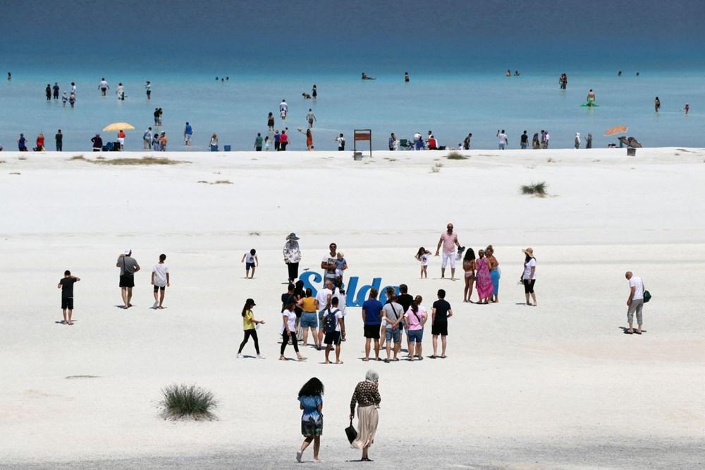 Bakan açıkladı: Salda Gölü'nün 'Beyaz Adalar' bölgesinde göle ve plaja giriş yasaklandı - 6