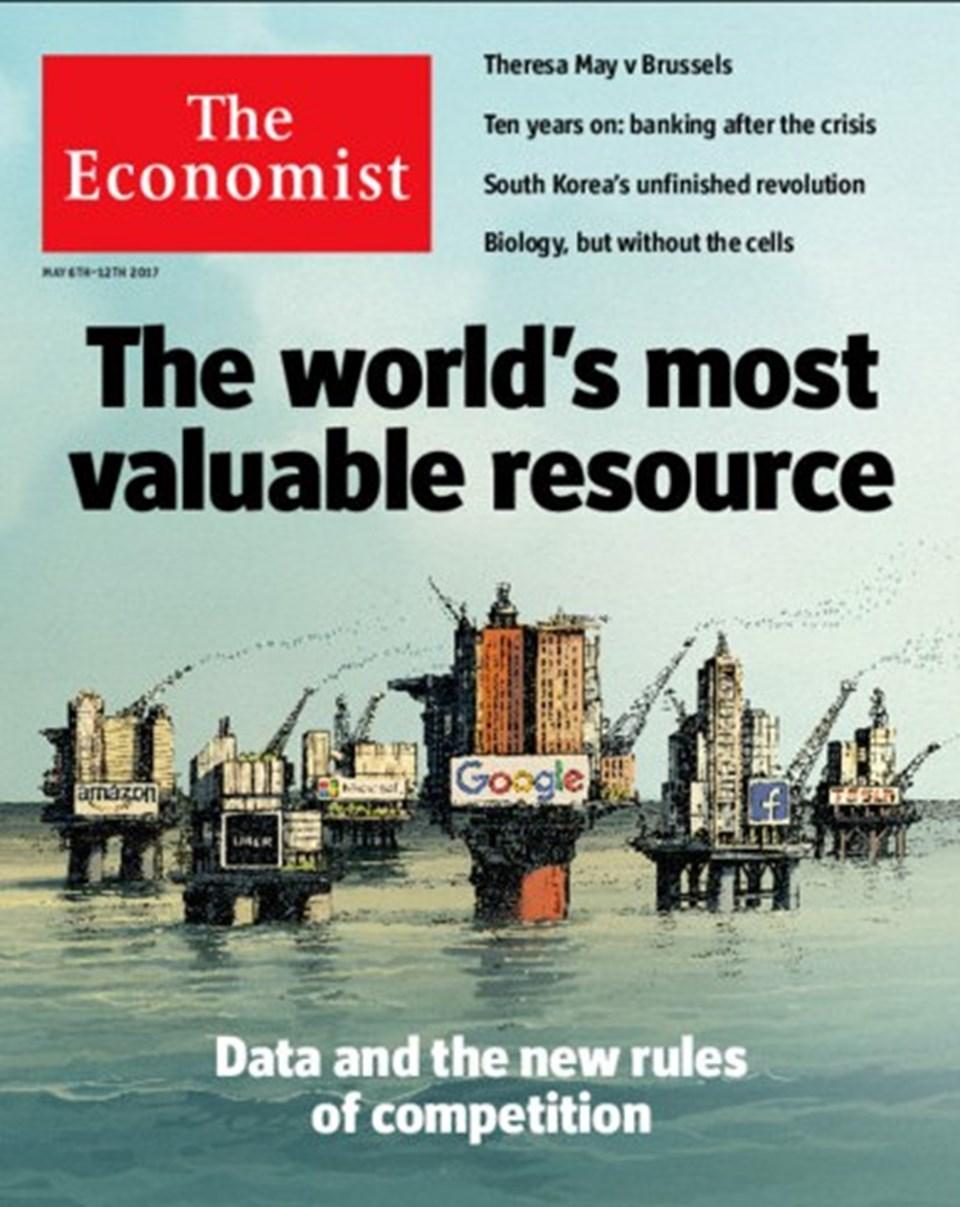 """The Economist dergisi veriyi """"dijital çağın petrolü"""" olarak tanımlamıştı."""
