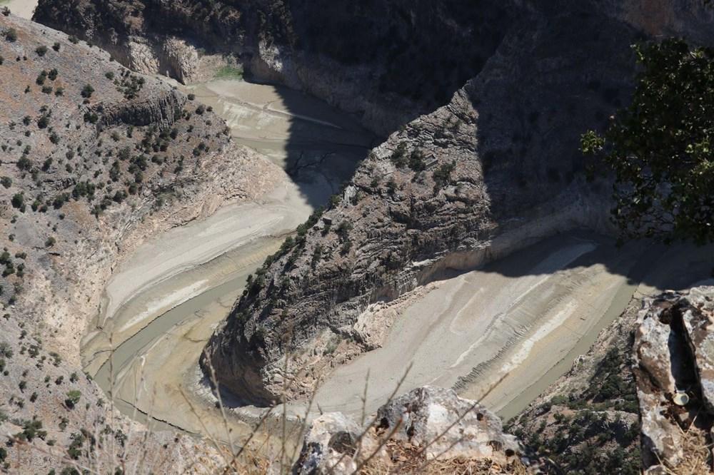 Doğa harikası İnceğiz Kanyonu'nun suyu çekildi - 13