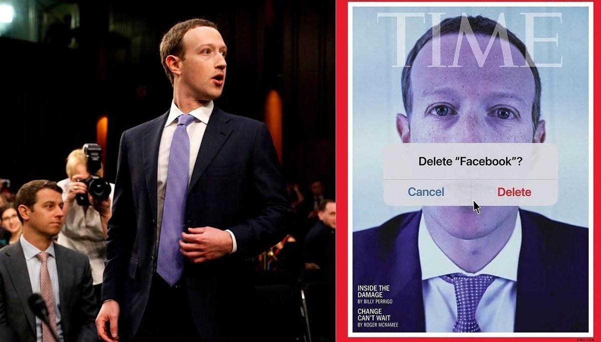 Zuckerberg bu kez 'Faceook'u sil?' sorusu ile kapak oldu