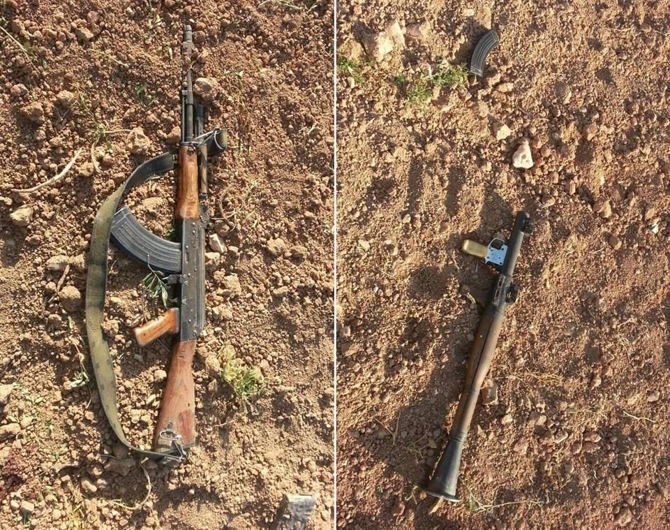 IŞİD üyelerine ait silahlar