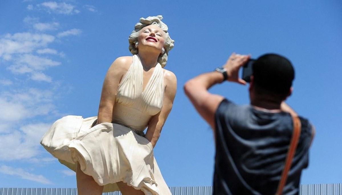 Marilyn Monroe heykeline etek altı fotoğraf tepkisi
