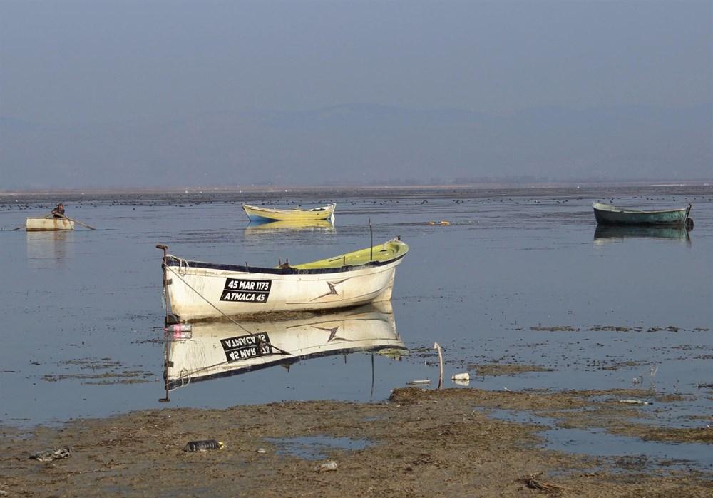 'Kuş cenneti' Marmara Gölü'nde derinlik 40 santimetreye düştü - 14