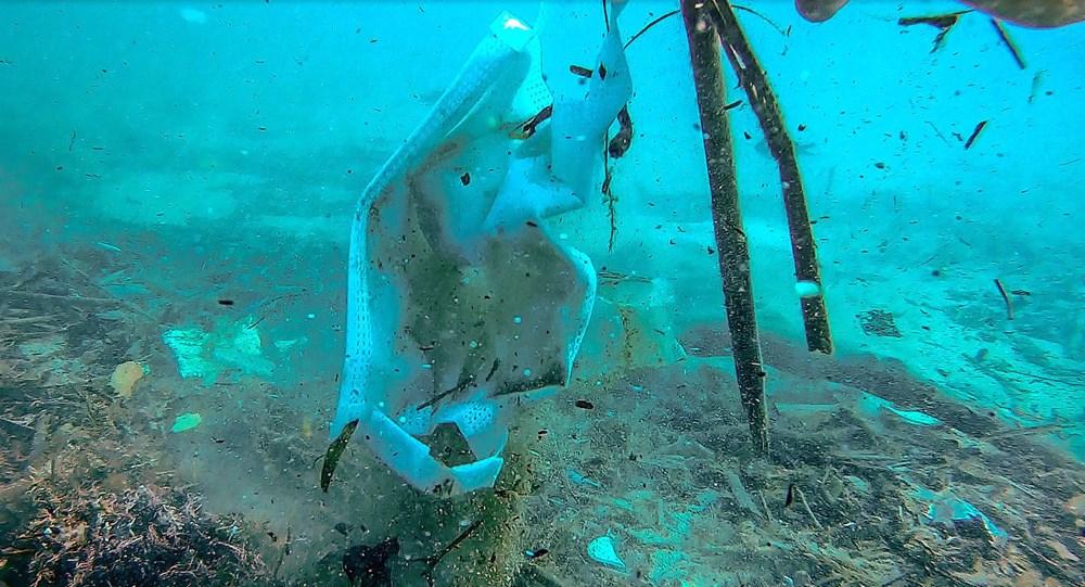 Deniz tabanı maske ve eldiven dolu - 10
