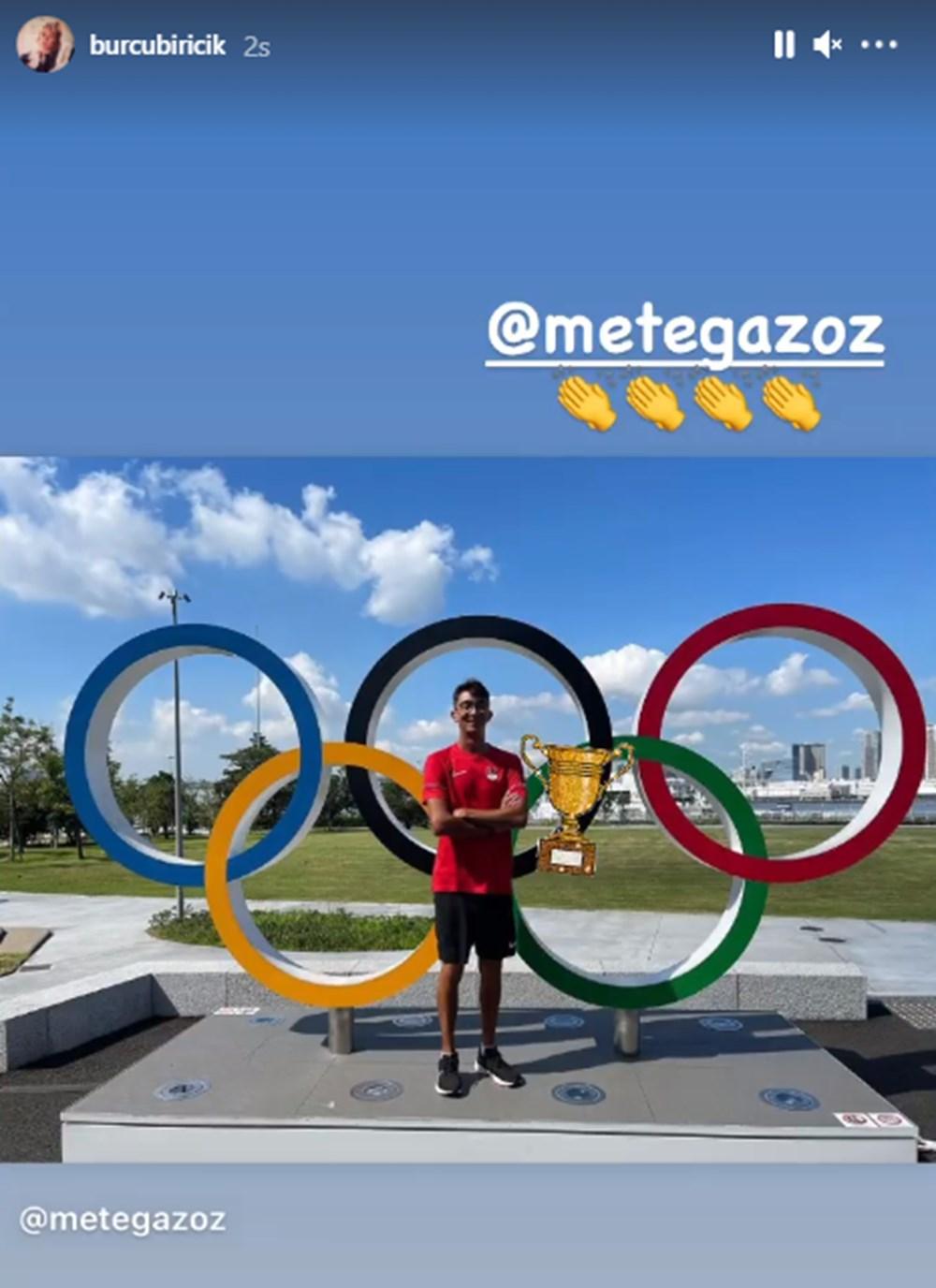 Ünlü isimlerden Mete Gazoz'a tebrik mesajları: Kötü günlerde nefes oldun - 6