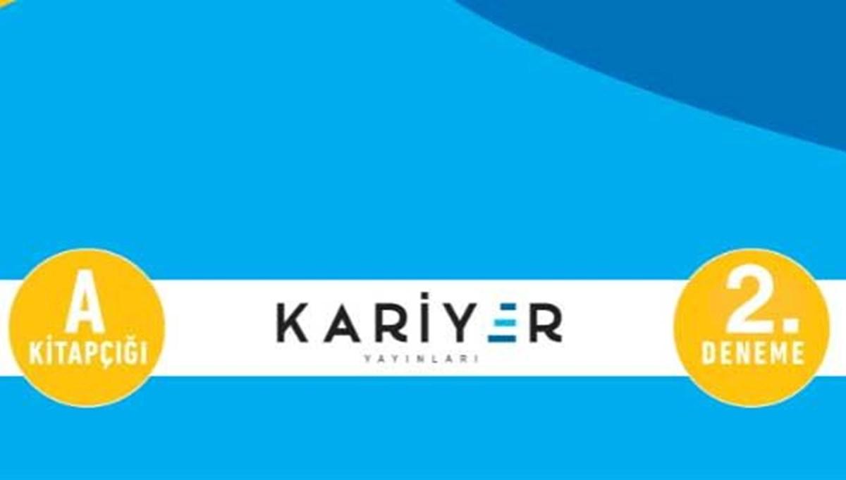 Kariyer Yayınları TYT 2. deneme sınavı