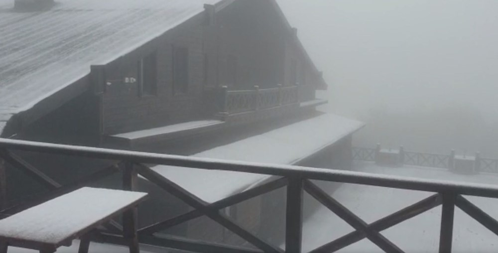 Geçen hafta 30 derece bugün kar - 2