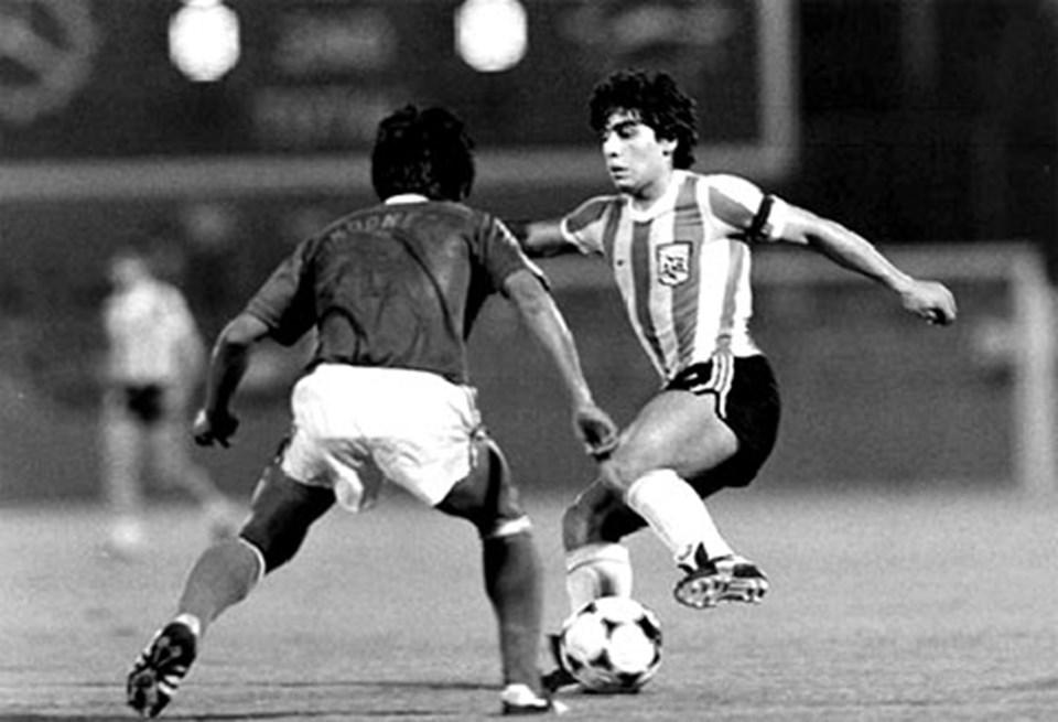 Maradona 1979'da Japonya'daki şampiyonada.
