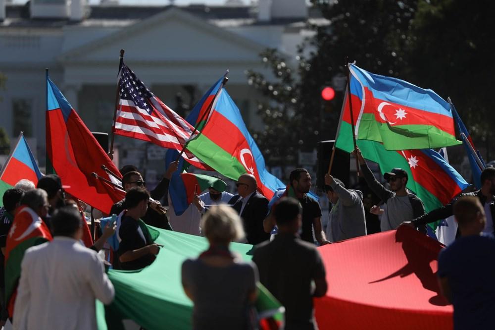 Beyaz Saray önünde Azerbaycan'a destek mitingi düzenlendi - 4