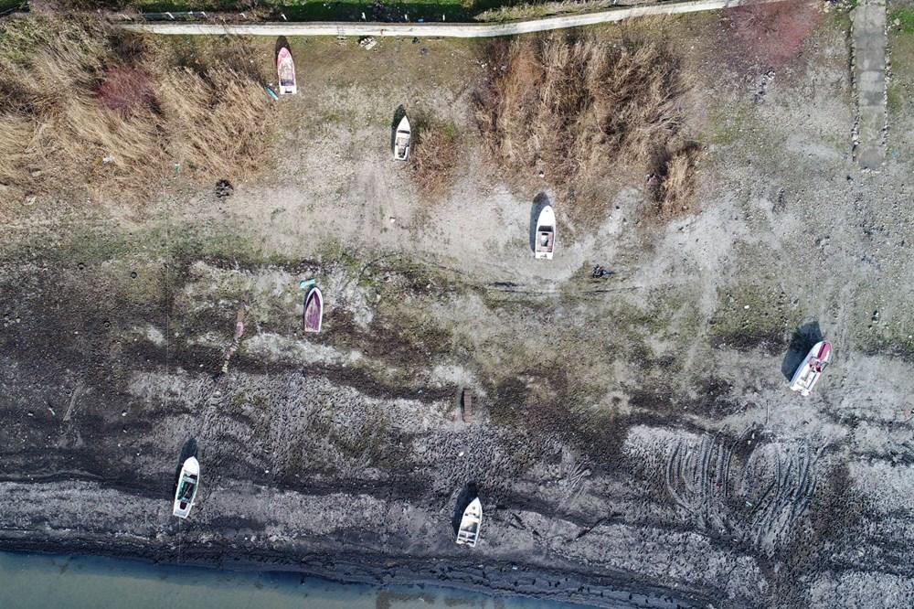 Terkos Gölü 100 metre çekildi, kirlilik ortaya çıktı - 18
