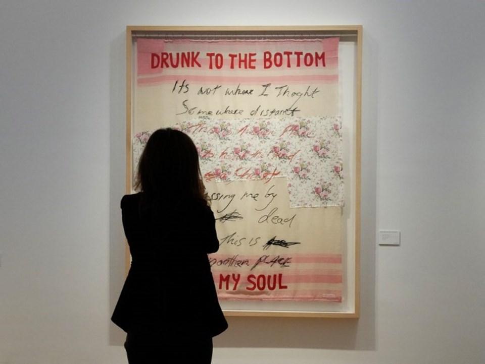 Tracey Emin'in satışa çıkan Drunk to the Bottom of My Soul eseri