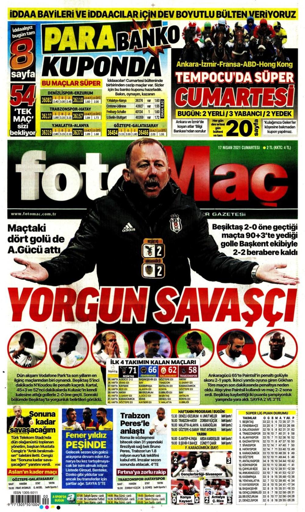 Günün spor manşetleri (17 Nisan 2021) - 7