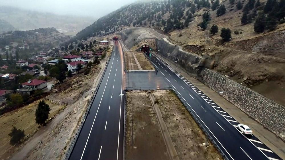 11 tünelli Kahramanmaraş-Göksun yolu açıldı: Süre 39 dakika kısalacak - 7