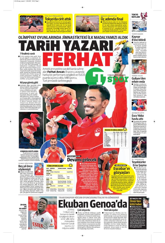 Günün spor manşetleri (4 Ağustos 2021) - 16
