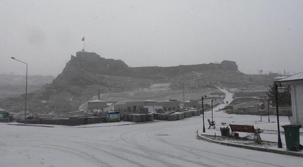 Kars merkeze mevsimin ilk karı düştü - 6