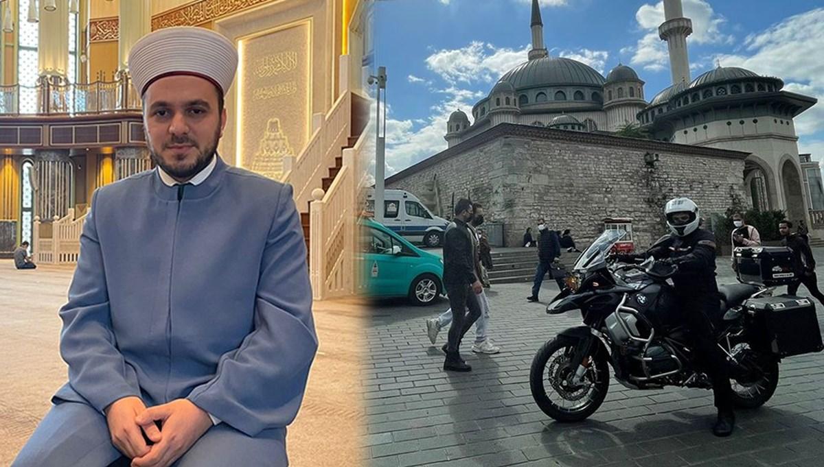 Taksim Camisi'nin motorcu imamı