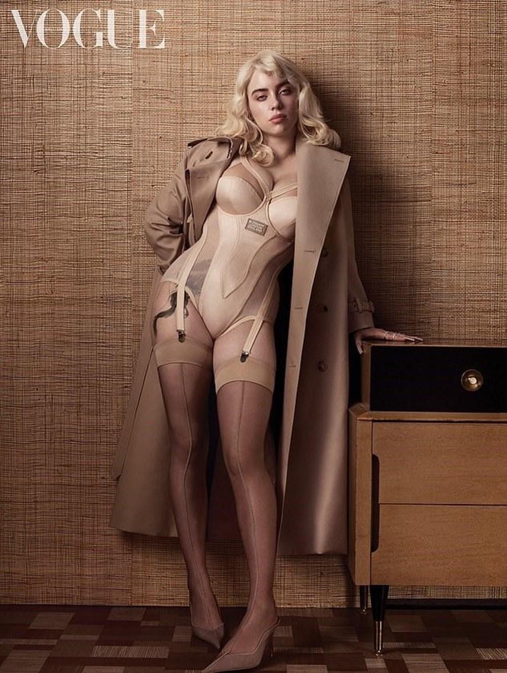 Billie Eilish Vogue için Marilyn Monroe gibi poz verdi - 2