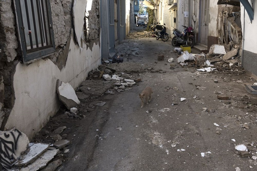 Depremin vurduğu Yunan adası Sisam'da son durum - 33